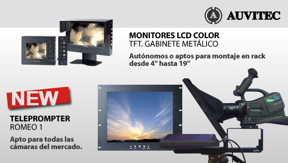 Auvitec Teleprompter y Monitores LCD Color